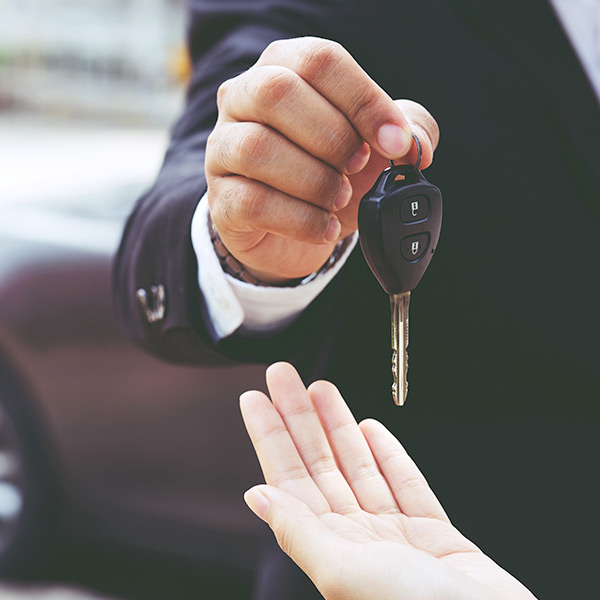 Giving car keys to someone else